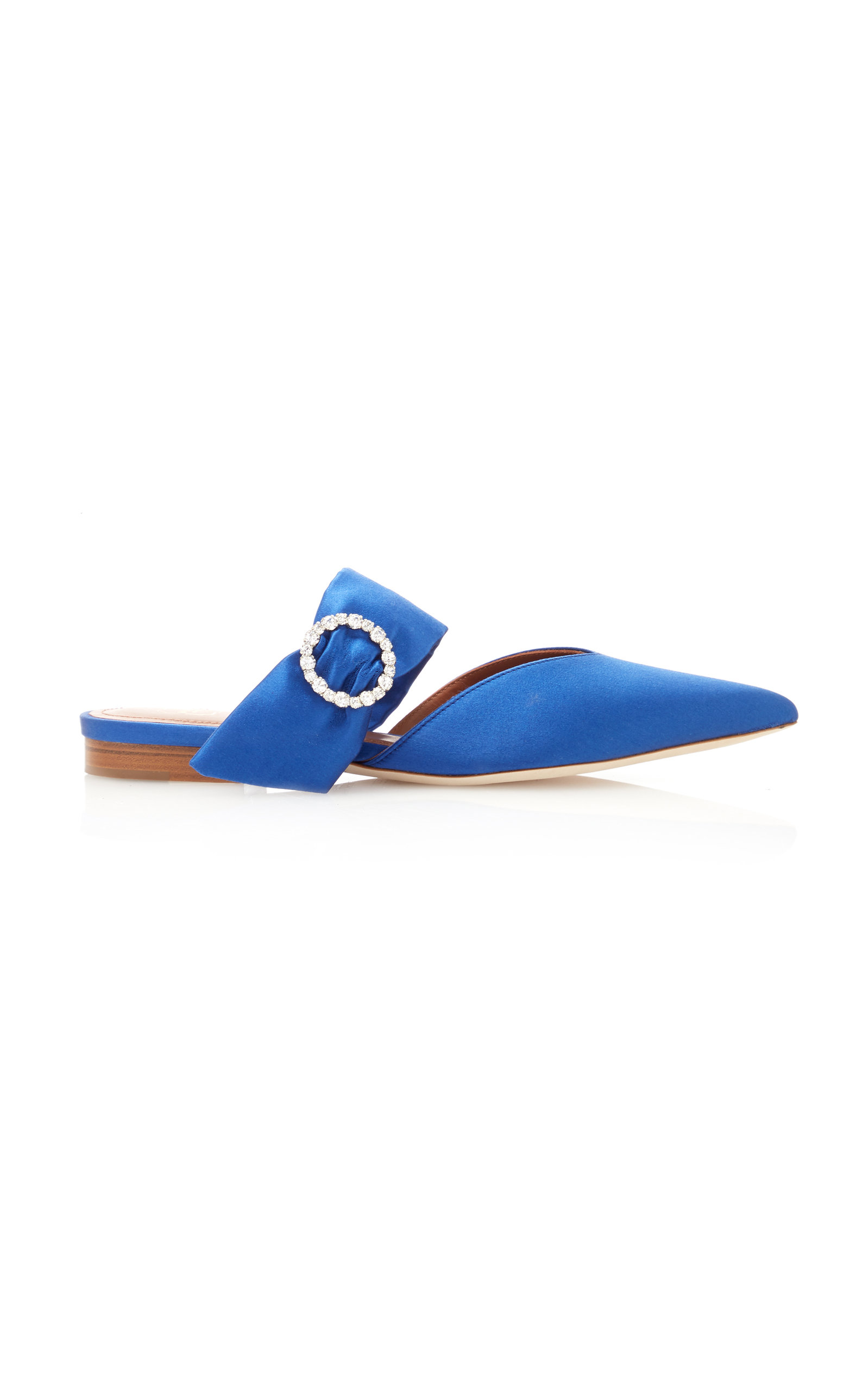 Malone Souliers   Malone Souliers Maite Crystal-Embellished Satin Flats   Clouty
