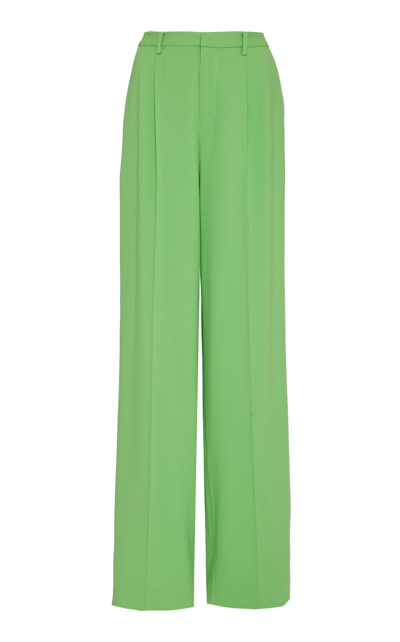 Ralph Lauren | Ralph Lauren Winnifred Wool-Blend High-Rise Wide-Leg Pants | Clouty