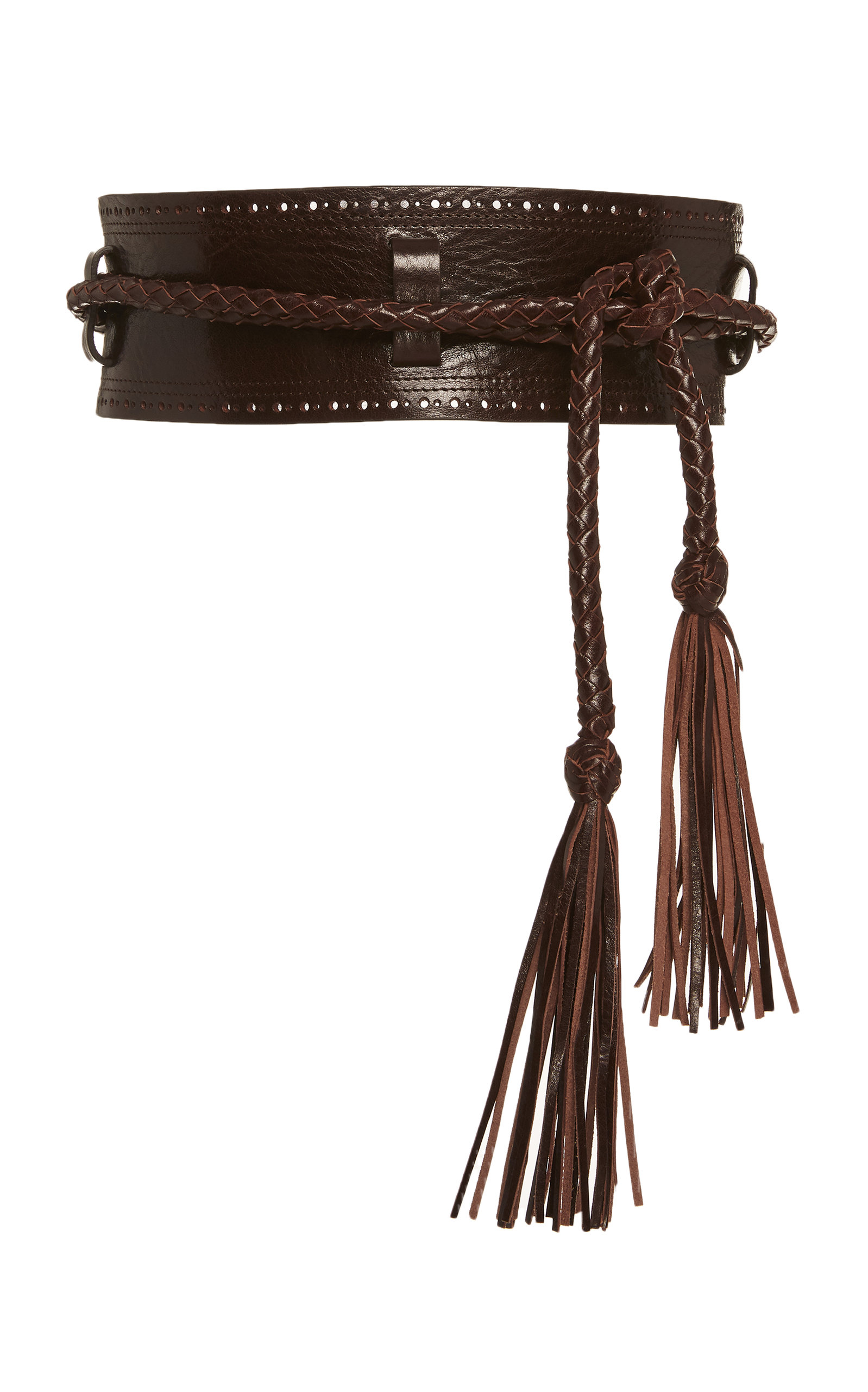 Carolina Herrera | Carolina Herrera Tasseled Leather Belt | Clouty