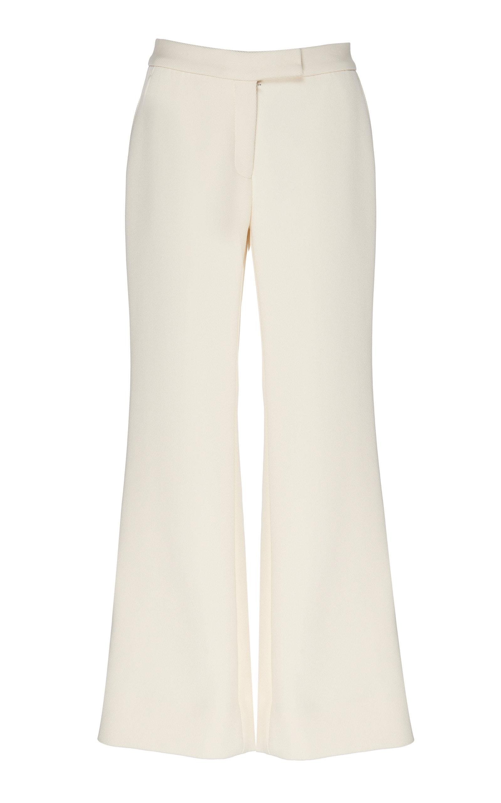 Marina Moscone | Marina Moscone Cotton-Blend Wide-Leg Pants | Clouty