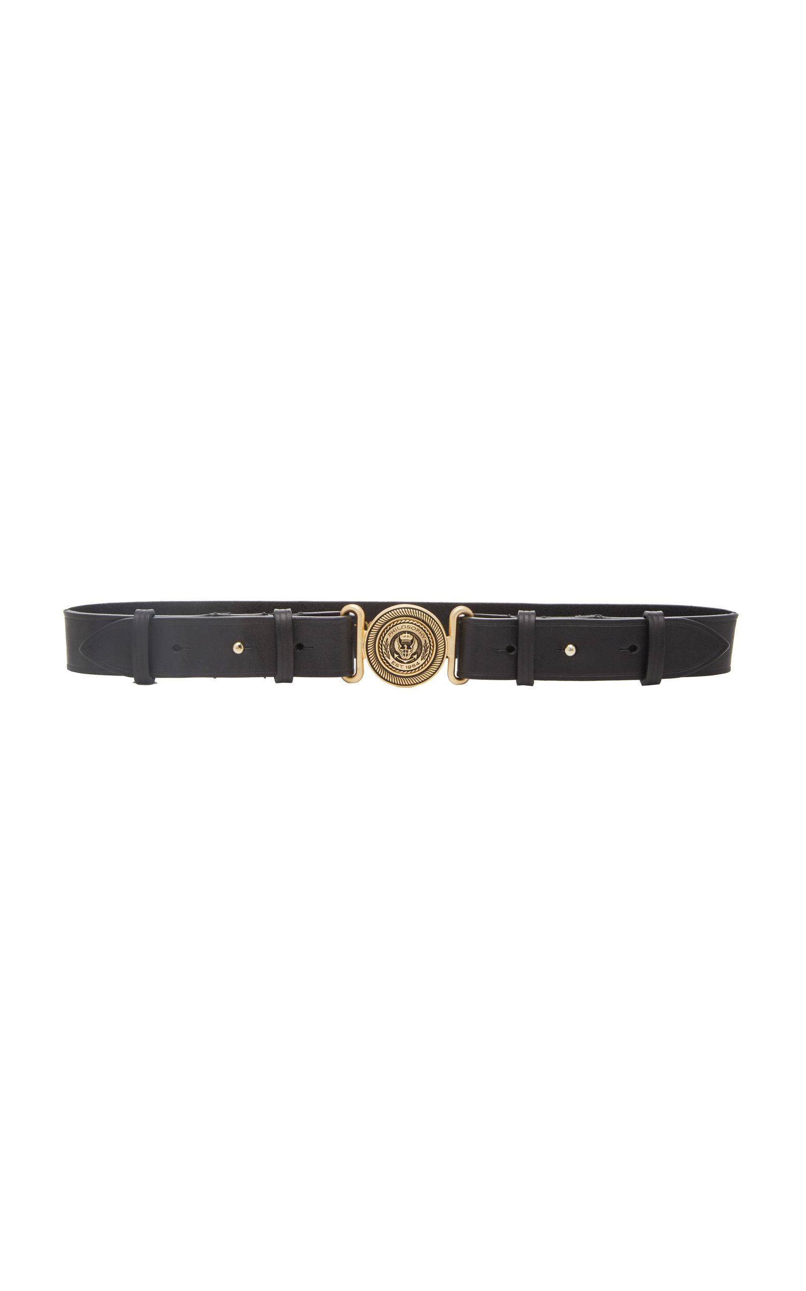 Philosophy di Lorenzo Serafini | Philosophy di Lorenzo Serafini Embellished Leather Belt | Clouty