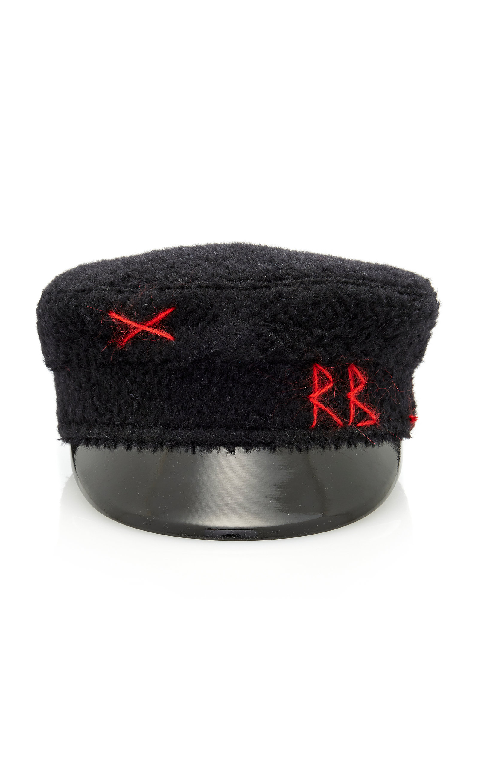 Ruslan Baginskiy Hats | Ruslan Baginskiy Hats Embroidered Wool Baker Boy Cap | Clouty