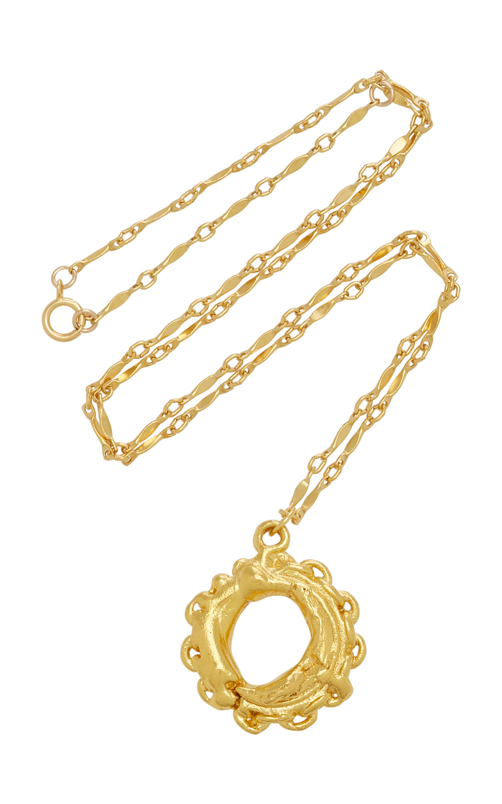 Alighieri   Alighieri Compass Possessed 24K Gold-Plated Necklace   Clouty