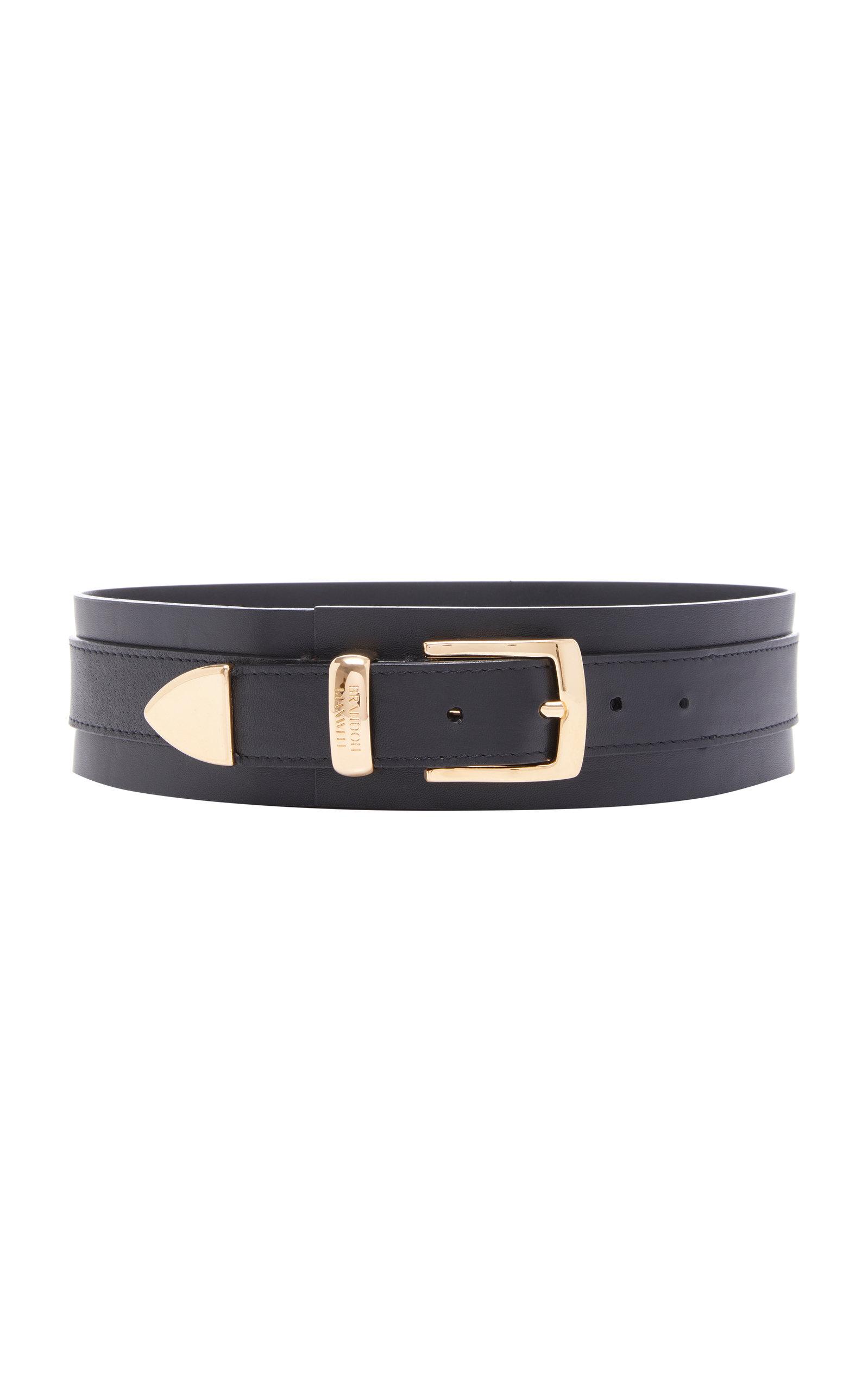 Brandon Maxwell | Brandon Maxwell Wide Leather Waist Belt | Clouty