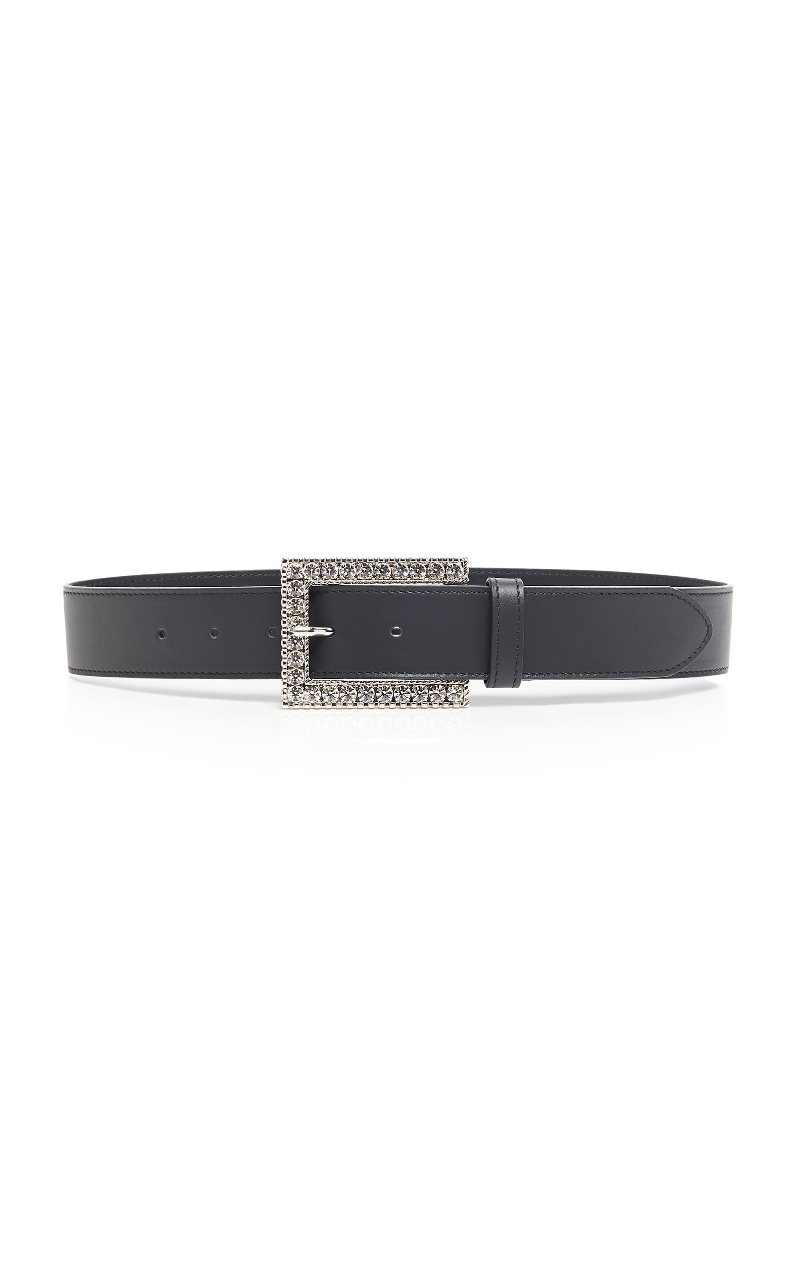 Alessandra Rich | Alessandra Rich Crystal-Embellished Leather Belt | Clouty