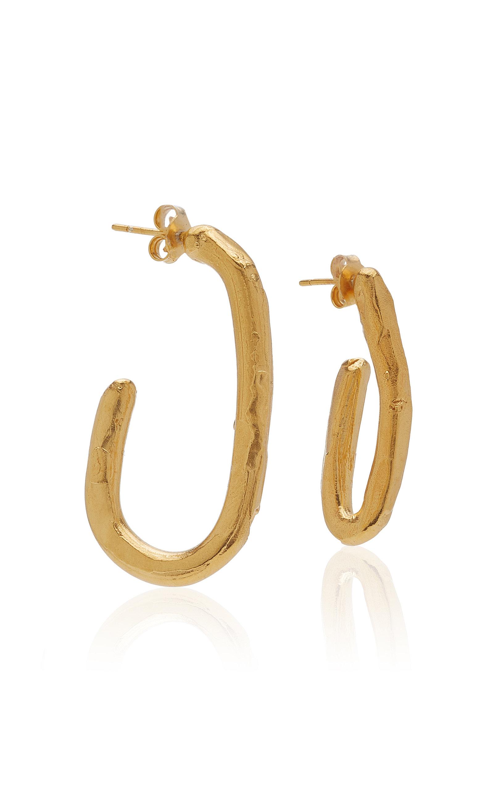 Alighieri   Alighieri The Mind In Flight 24K Gold-Plated Hoop Earrings   Clouty