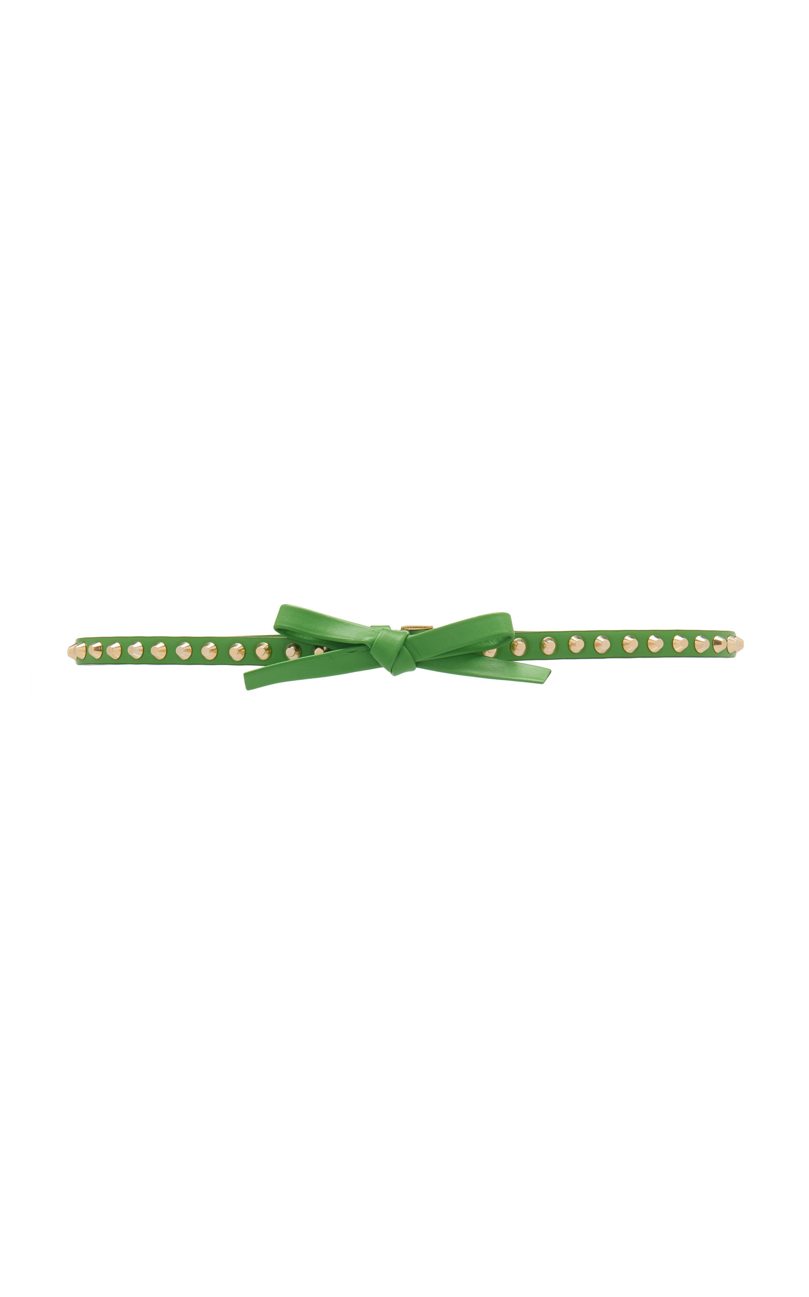 PRADA | Prada Bow-Detailed Studded Leather Belt | Clouty