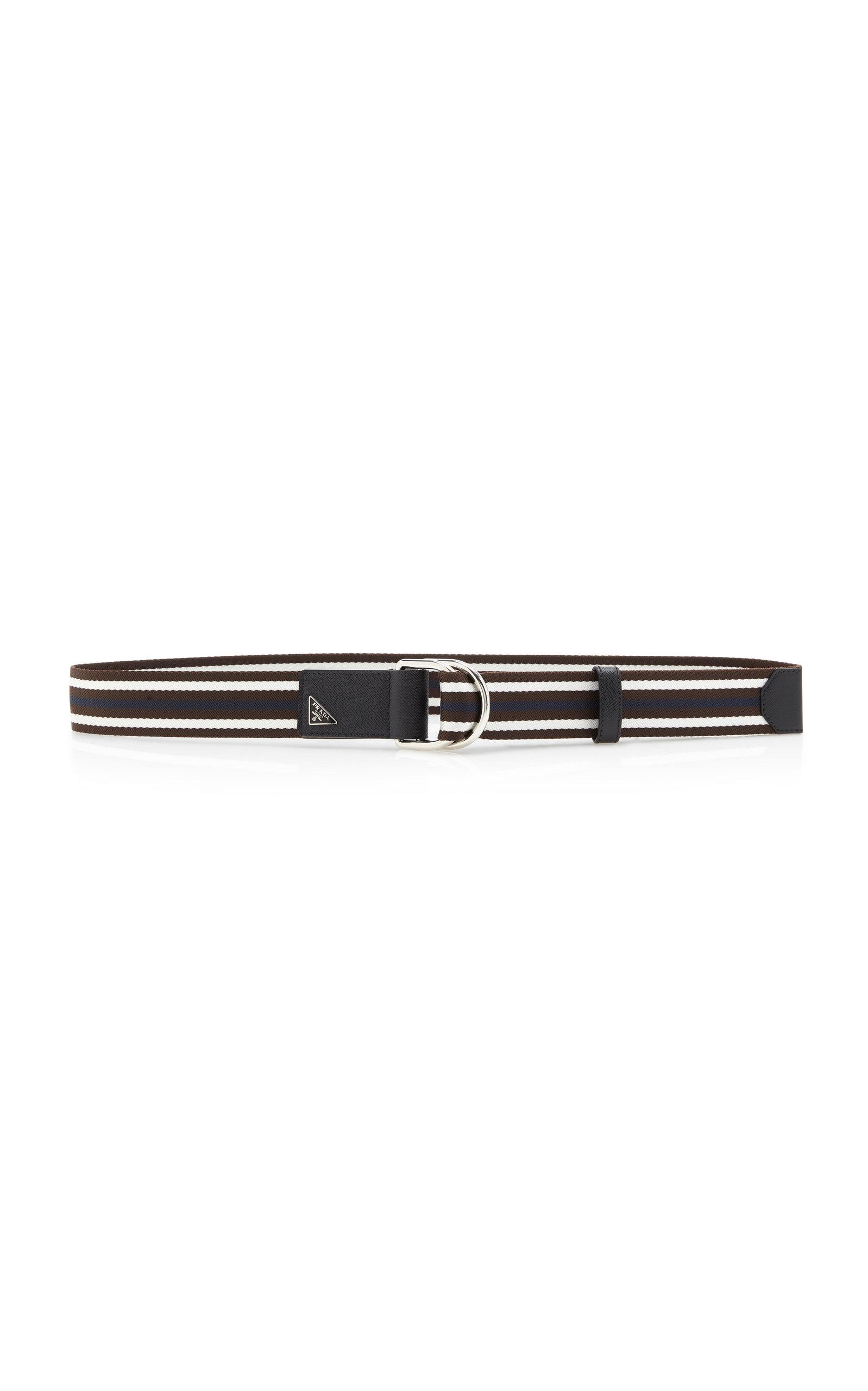 PRADA   Prada Striped Fabric Belt   Clouty