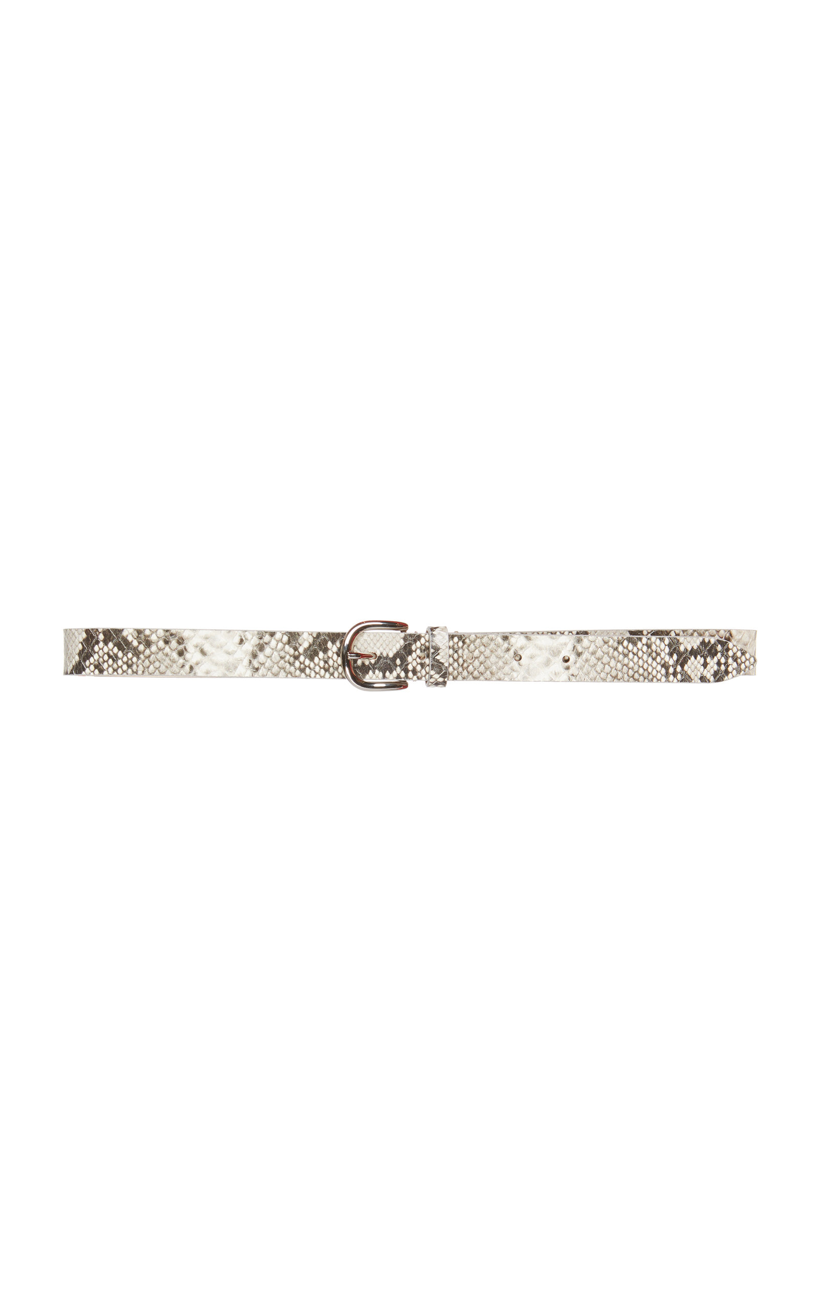 Isabel Marant | Isabel Marant Zap Snake-Effect Leather Belt | Clouty
