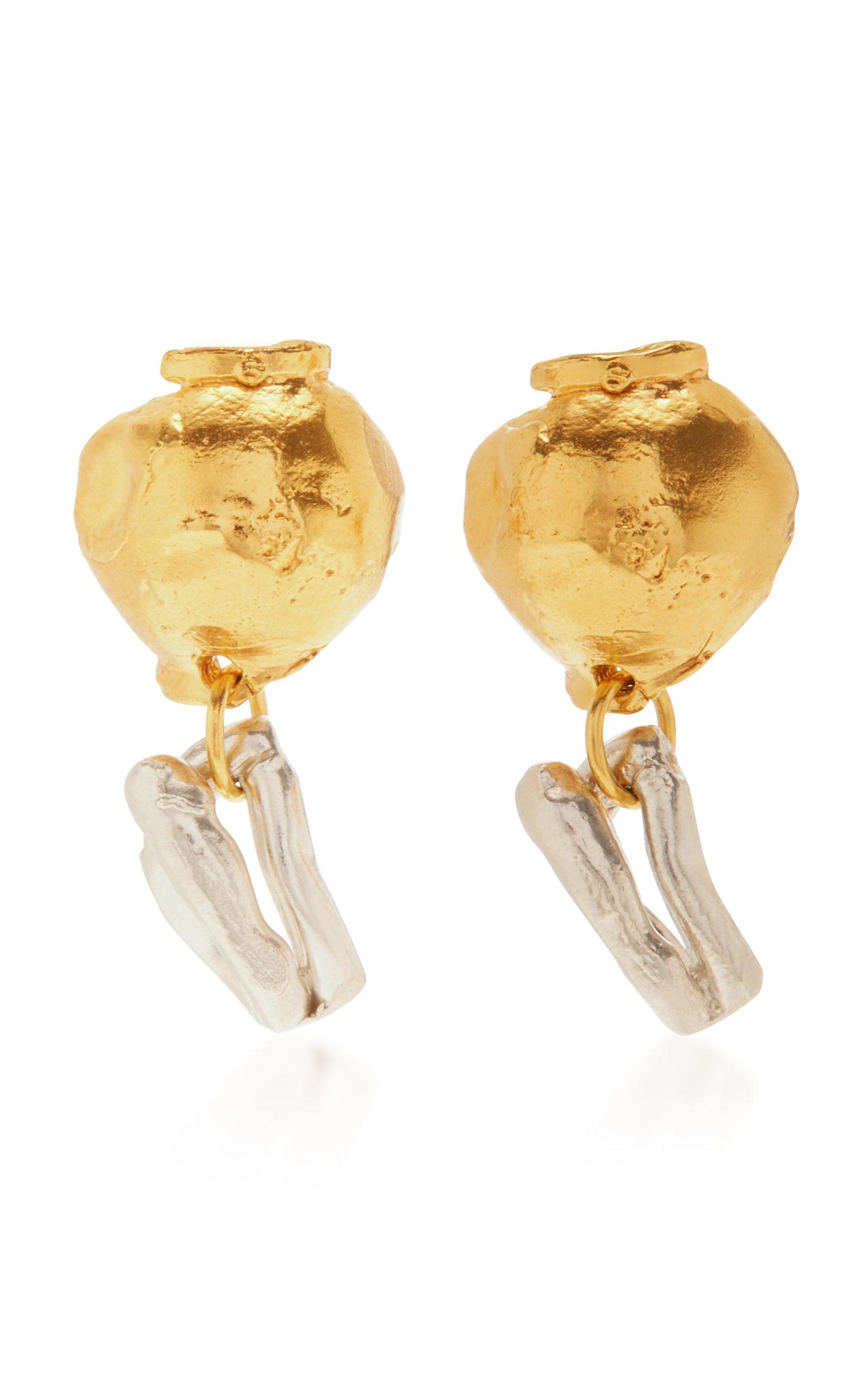 Alighieri   Alighieri 24K Gold-Plated And Pearl Earrings   Clouty