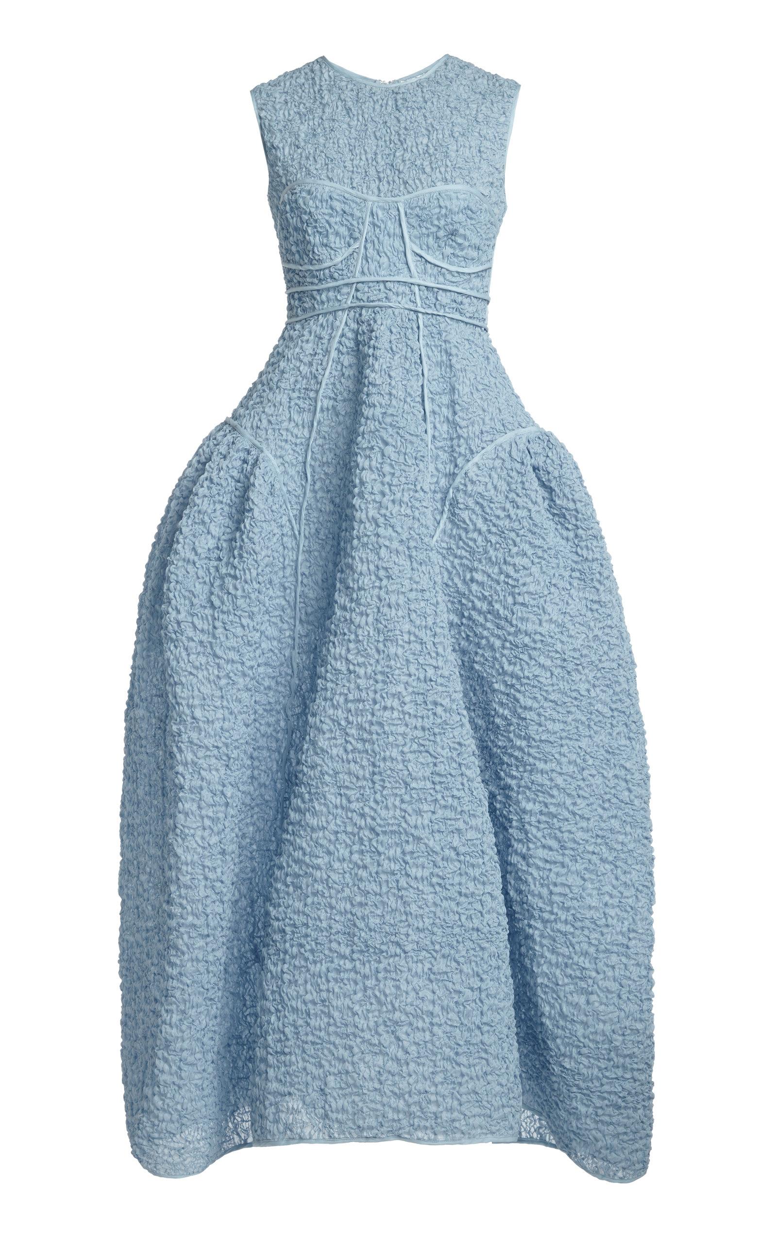 Cecilie Bahnsen | Cecilie Bahnsen Lia Cotton Cloque Bustier Maxi Dress | Clouty