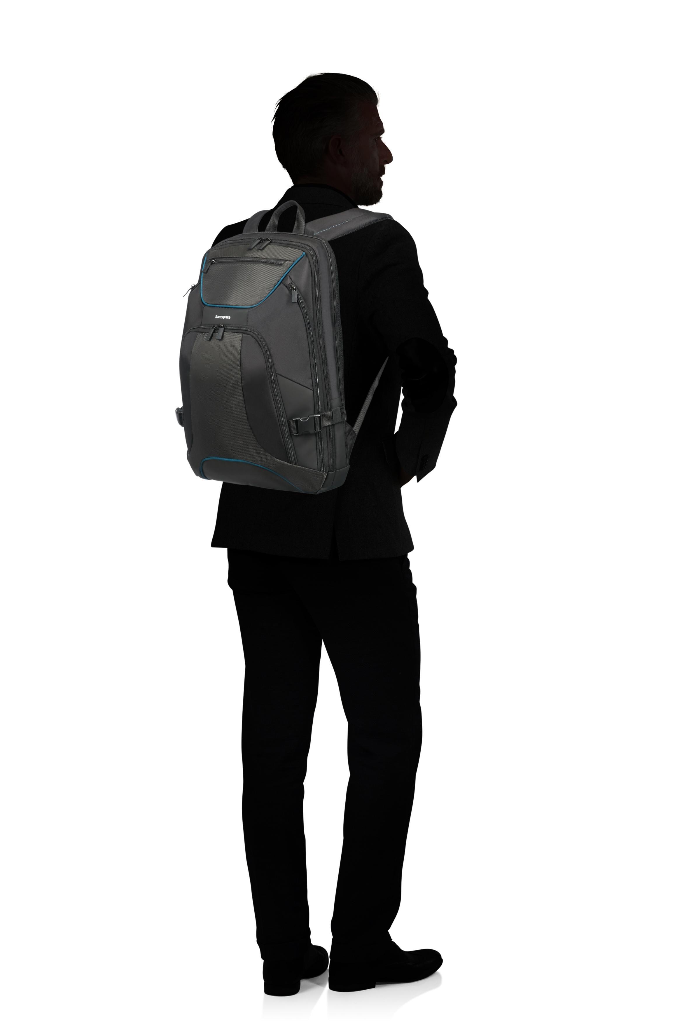 "Samsonite | Черный, Серый/Black, Anthracite Рюкзак для ноутбука 17.3"" KLEUR 35x48x21 см | Clouty"