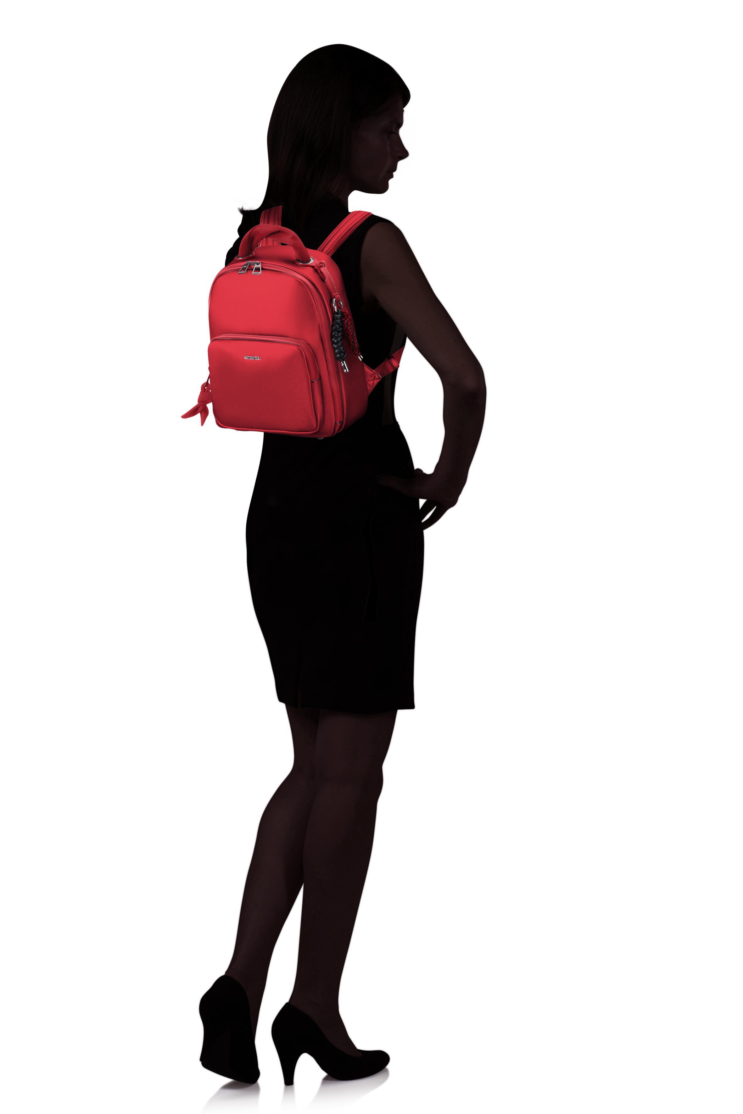 Samsonite | Красный/Dark Red Рюкзак S SHESBACK 23.5x29x13 см | Clouty