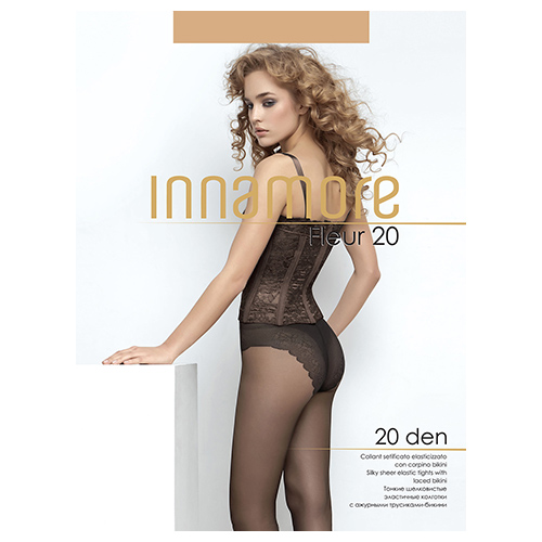 Innamore | Колготки женские INNAMORE FLEUR 20 den тон Miele р-р 4 | Clouty