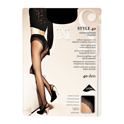 Sisi | Колготки женские SISI STYLE 40 den Nero р-р | Clouty