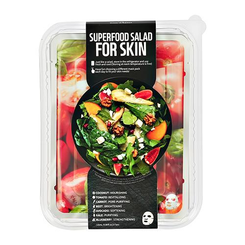 FARMSKIN | Набор масок для лица FARMSKIN SUPERFOOD SALAD FOR SKIN с экстрактом кокоса, томата, моркови, свеклы, авокадо, капусты кале, черники 7 шт | Clouty