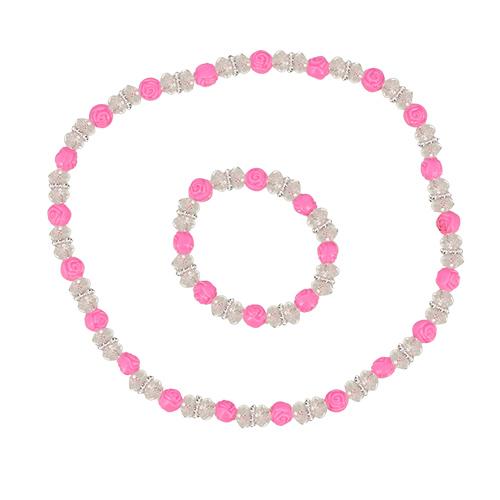 Miss Pinky | Набор MISS PINKY бусы, браслет | Clouty