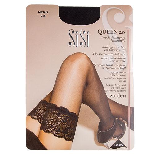Sisi | Чулки женские SISI QUEEN 20 den Nero р-р | Clouty
