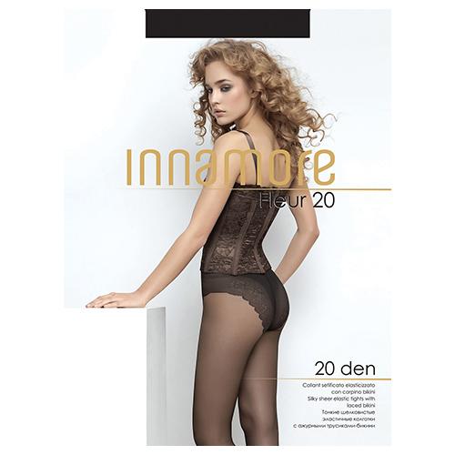 Innamore | Колготки женские INNAMORE FLEUR 20 den тон Nero р-р | Clouty