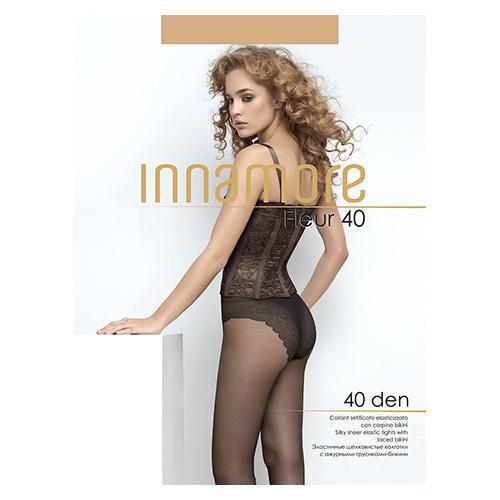 Innamore | Колготки женские INNAMORE FLEUR 40 den тон Miele р-р 3 | Clouty