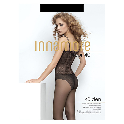 Innamore | Колготки женские INNAMORE FLEUR 40 den тон Nero р-р 3 | Clouty