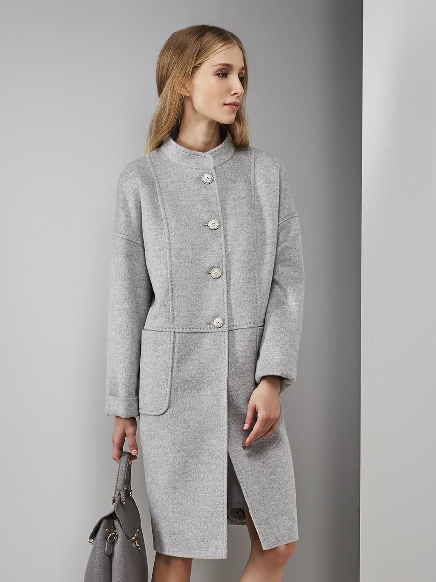 Pompa   серый Пальто женское демисезонное   Clouty
