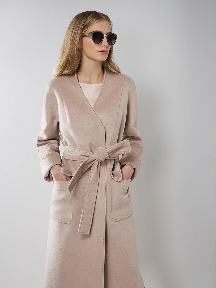 Pompa | бежевый Пальто женское демисезонное | Clouty