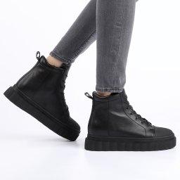Kiss Moon | черный Женские черные ботинки Kiss Moon | Clouty