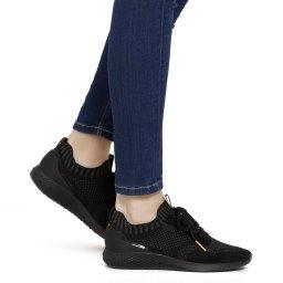 Tamaris | черный Женские черные кроссовки Tamaris | Clouty