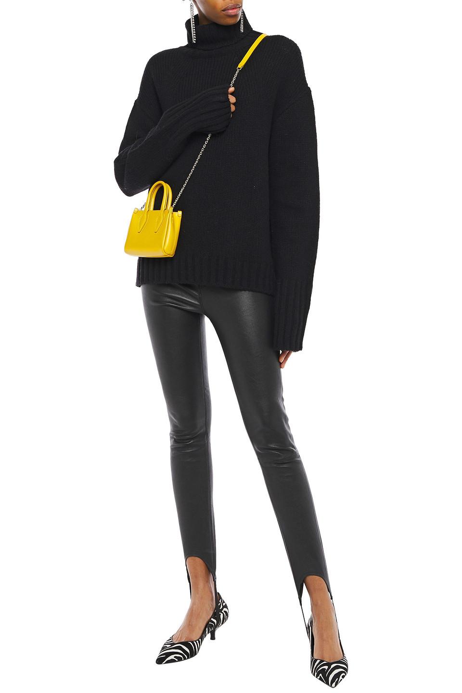 Philosophy di Lorenzo Serafini | Philosophy Di Lorenzo Serafini Woman Ribbed Wool-blend Turtleneck Sweater Black | Clouty