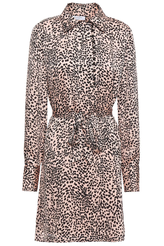 Equipment | Equipment Woman Temera Leopard-print Washed-crepe Mini Shirt Dress Blush | Clouty