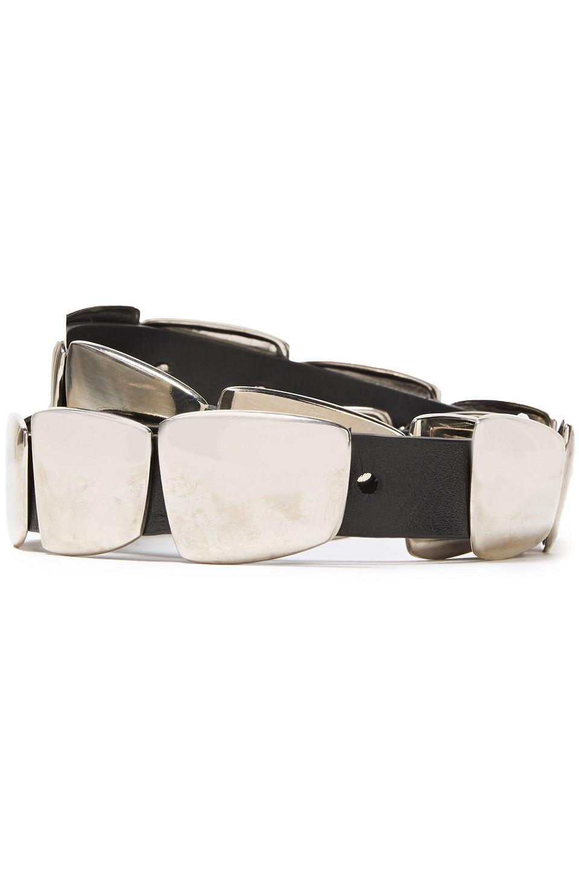 Alberta Ferretti | Alberta Ferretti Woman Embellished Leather Belt Black | Clouty