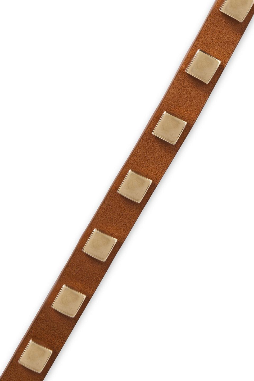 Alberta Ferretti | Alberta Ferretti Woman Studded Leather Belt Light Brown | Clouty