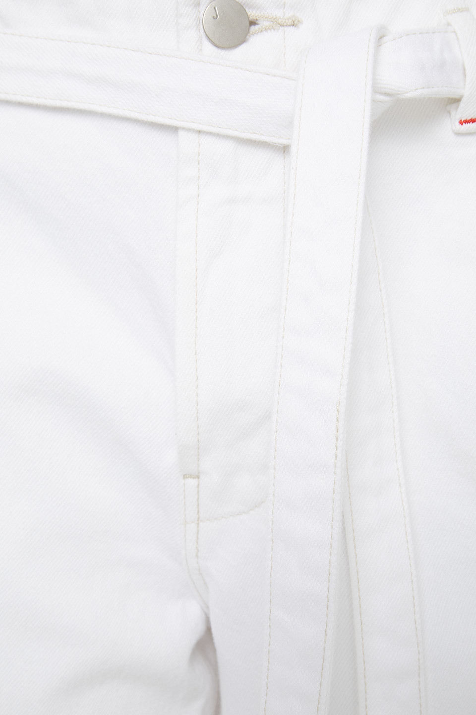 J Brand | J Brand Woman Belted High-rise Wide-leg Jeans White | Clouty