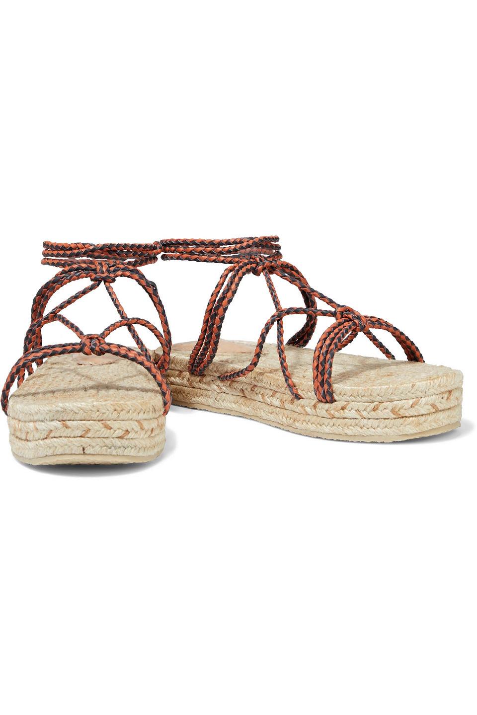 Zimmermann | Zimmermann Woman Braided Leather Platform Espadrille Sandals Tan | Clouty
