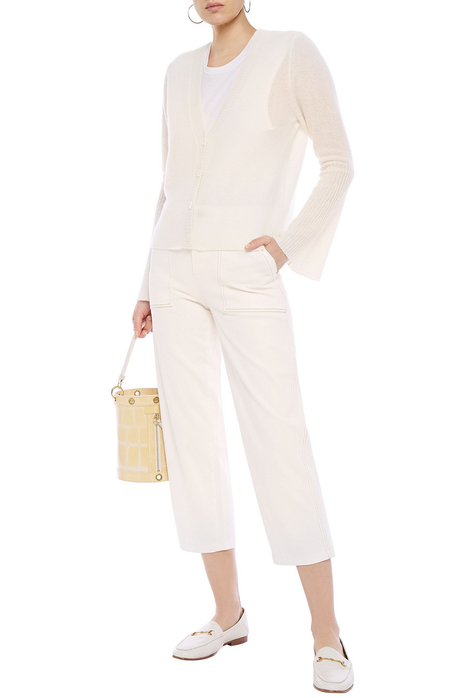 Charli | Charli Woman Cindy Cashmere Cardigan Ivory | Clouty