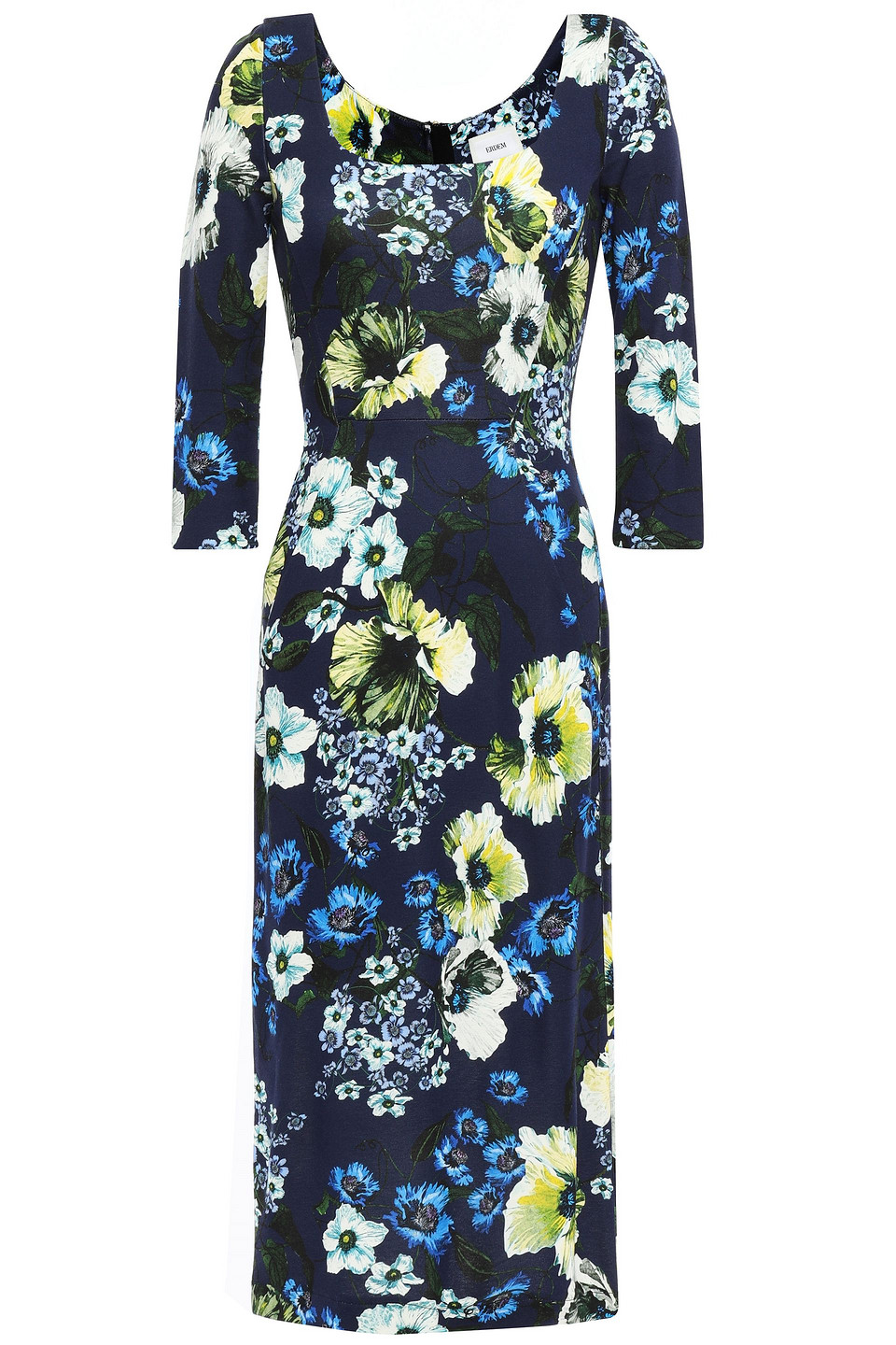 Erdem | Erdem Woman Floral-print Ponte Dress Navy | Clouty