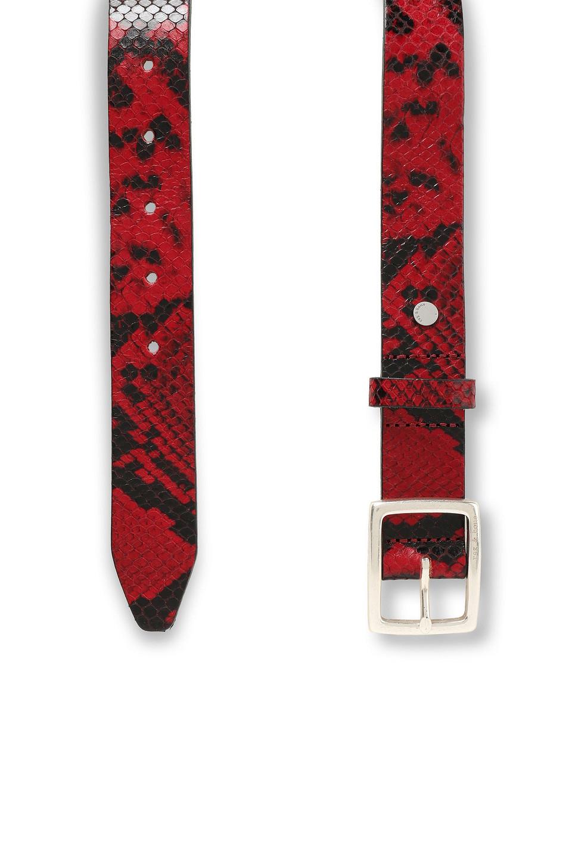 RAG & BONE | Rag & Bone Woman Snake-effect Leather Belt Red | Clouty