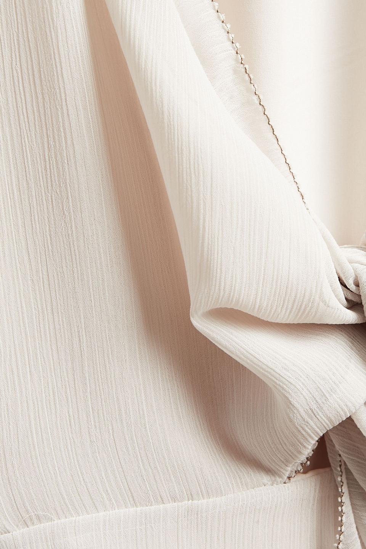 Charli | Charli Woman Svea Knotted Crepon Midi Dress Cream | Clouty