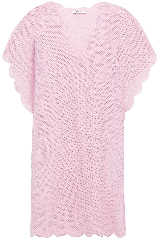 Marysia | Marysia Woman Shelter Island Scalloped Crocheted Cotton Tunic Baby Pink | Clouty