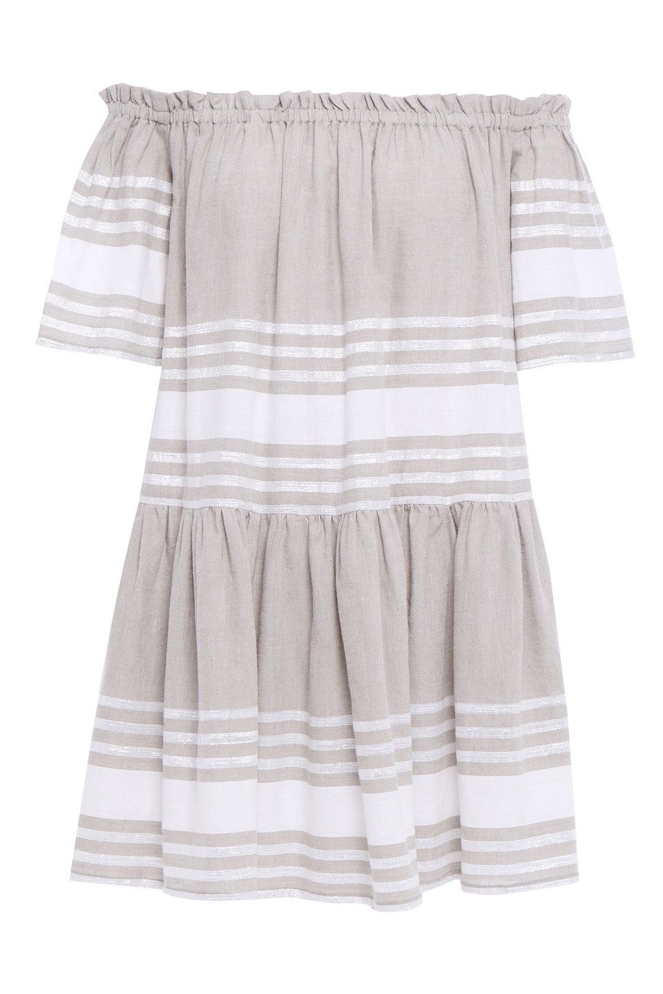 Sundress   Sundress Woman Belted Embroidered Gauze Coverup Gray   Clouty