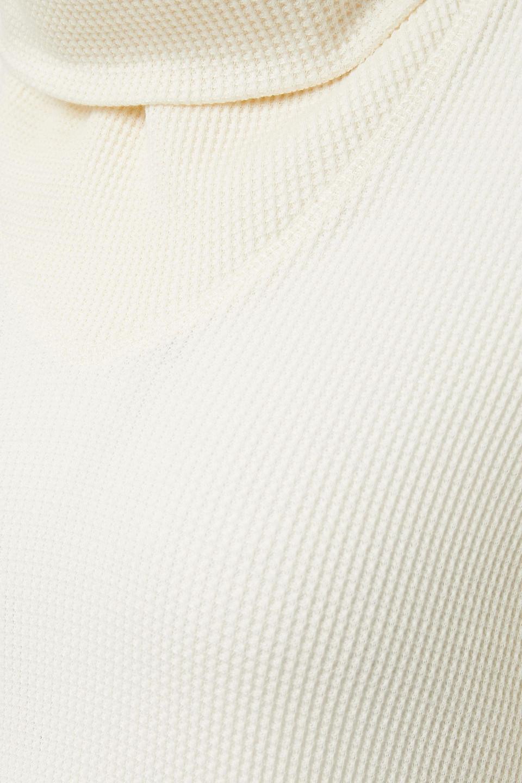 THE RANGE | The Range Woman Waffle-knit Cotton-blend Turtleneck Sweater Ivory | Clouty