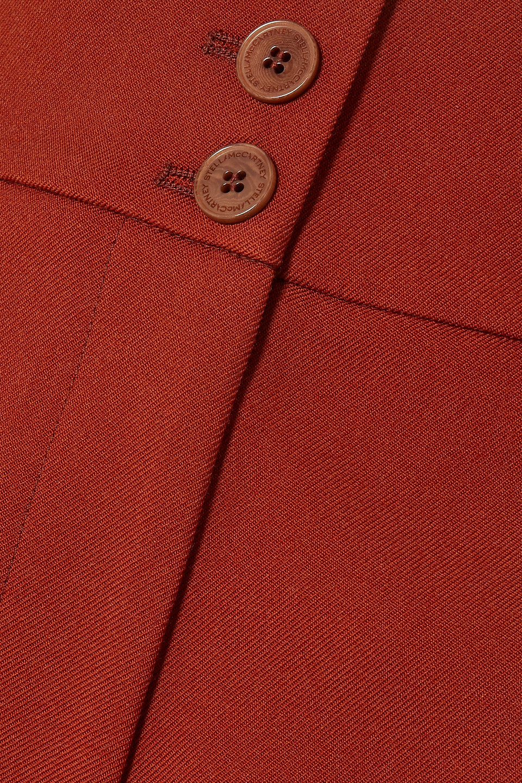 Stella McCartney | Stella Mccartney Woman Wool-twill Wide-leg Pants Tan | Clouty