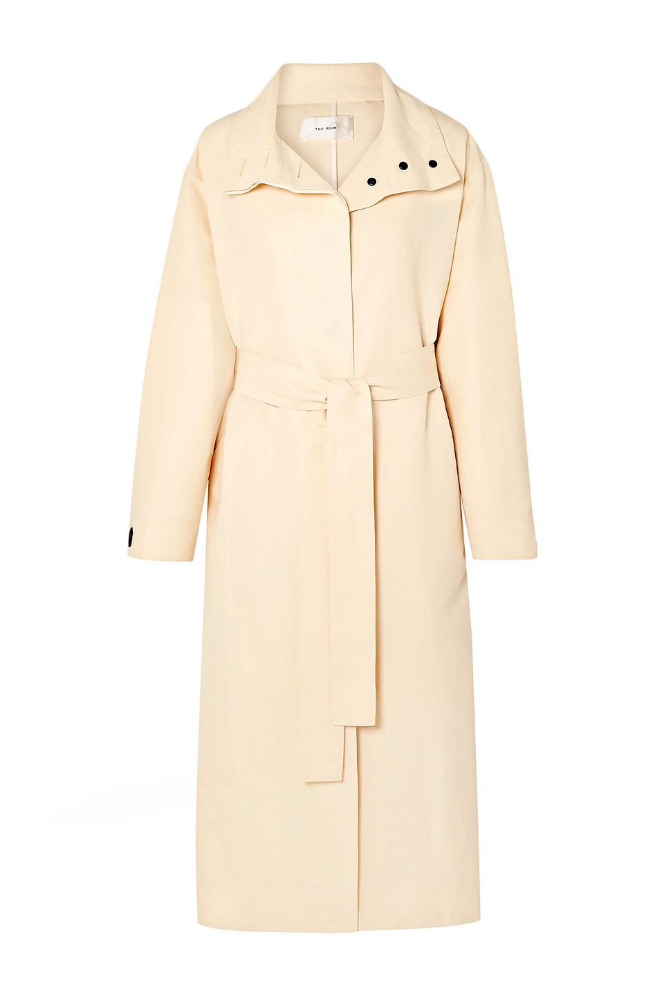 The Row   The Row Woman Panae Silk And Cotton-blend Trench Coat Ivory   Clouty