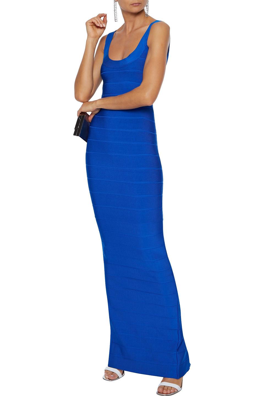Hervé Léger   Herve Leger Woman Bandage Gown Bright Blue   Clouty