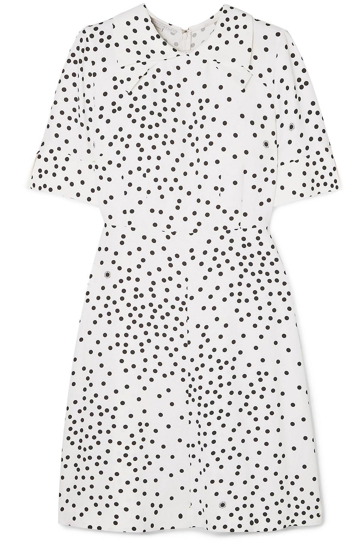 Stella McCartney   Stella Mccartney Woman Laurieton Polka-dot Stretch-cady Mini Dress White   Clouty