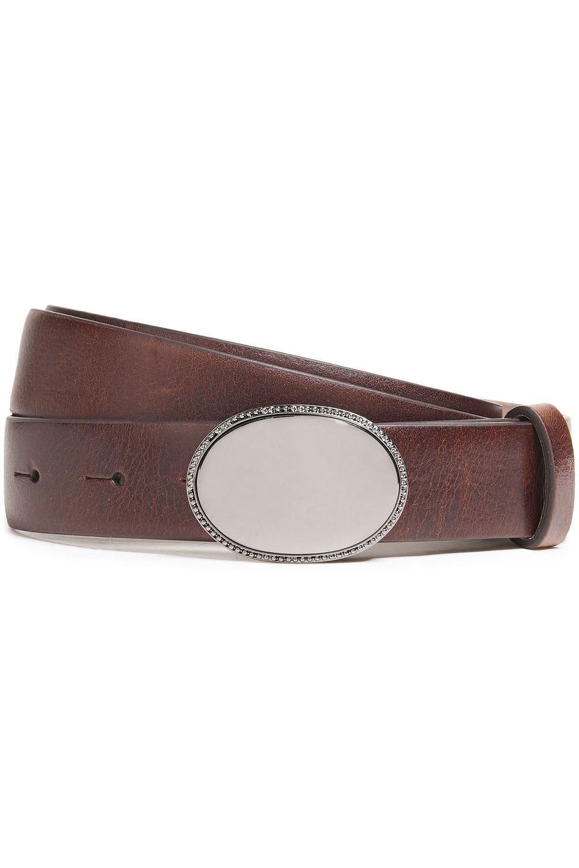 Brunello Cucinelli   Brunello Cucinelli Woman Leather Belt Chocolate   Clouty