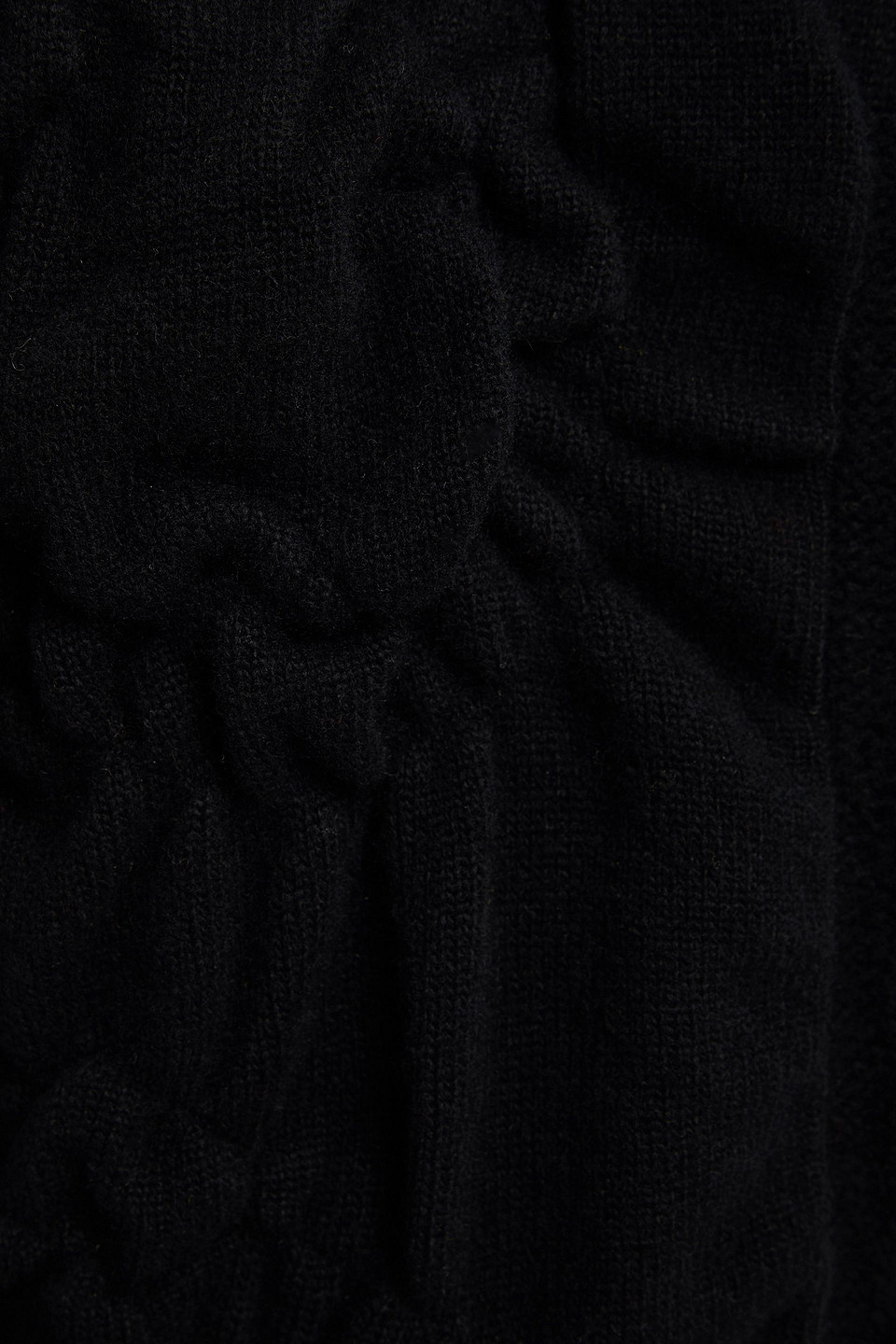 SIMONE ROCHA   Simone Rocha Woman Cable-knit Wool And Cashmere-blend Turtleneck Sweater Black   Clouty