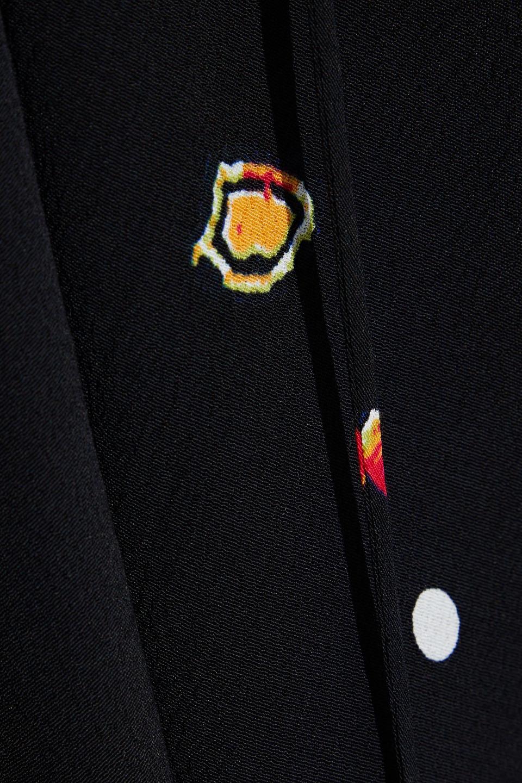 Diane Von Furstenberg   Diane Von Furstenberg Woman Jessica Pleated Printed Crepe Dress Black   Clouty