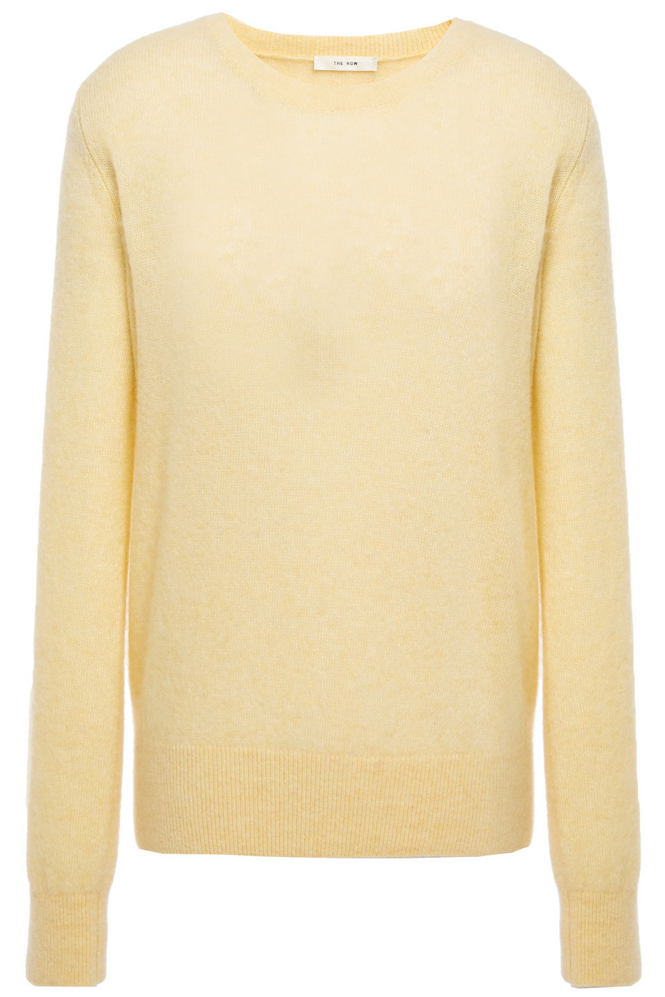 The Row | The Row Woman Minco Brushed Cashmere And Silk-blend Sweater Pastel Yellow | Clouty